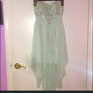 Mint Green Semi Formal Dress